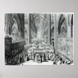 La coronación de rey James II c.1685 Posters