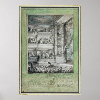La coronación de Voltaire en el teatro Francais Impresiones