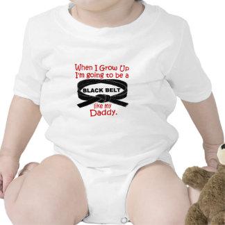 La correa negra del KARATE tiene gusto de mi papá  Trajes De Bebé