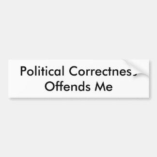 La corrección política me ofende pegatina para auto