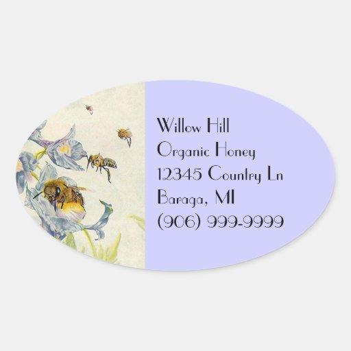 La correhuela de las abejas de la miel del pegatin