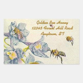 La correhuela de las abejas de la miel del rectangular altavoz