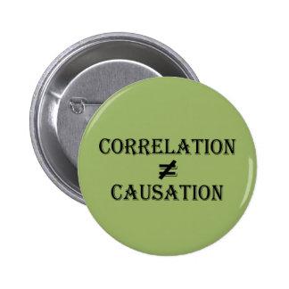 La correlación no iguala la causalidad pin