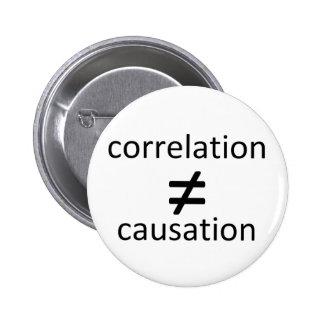 La correlación no iguala la causalidad pins