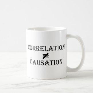 La correlación no iguala la causalidad taza