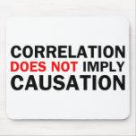 La correlación no implica la causalidad tapetes de raton