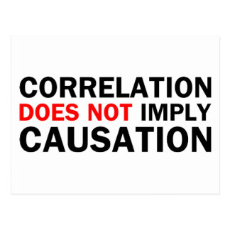 La correlación no implica la causalidad postal