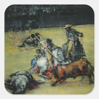 La corrida, c.1825 (aceite en lona) colcomanias cuadradas