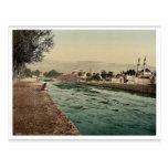 La corriente de Barada, Damasco, Tierra Santa, (es Postal