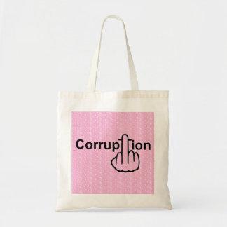 La corrupción del bolso chupa bolsas de mano