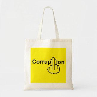 La corrupción del bolso chupa bolsa lienzo