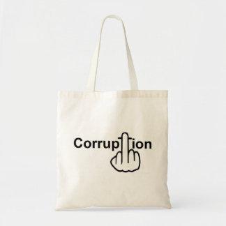 La corrupción del bolso chupa bolsa de mano