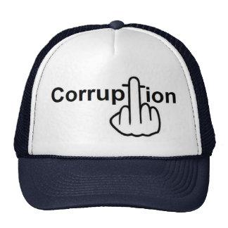 La corrupción del gorra chupa