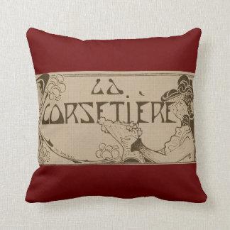 La Corsetier Throw Pillow