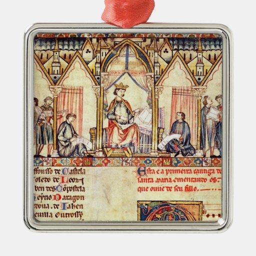 La corte de Alfonso X 'el Wise Ornamentos De Reyes Magos