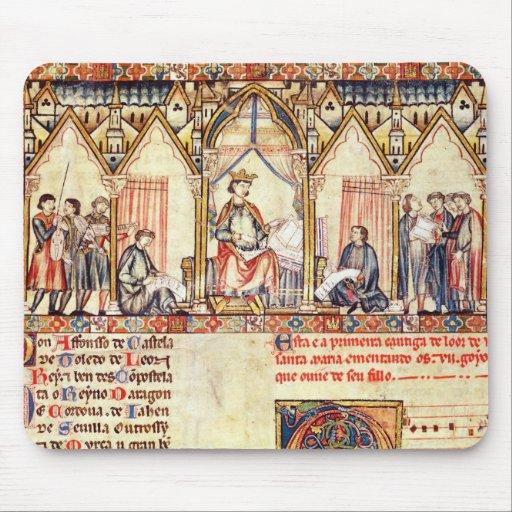 La corte de Alfonso X 'el Wise Alfombrilla De Raton