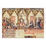 La corte de Alfonso X 'el Wise Tarjeton