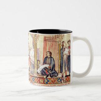 La corte de Alfonso X 'el Wise Taza De Café De Dos Colores