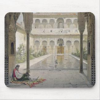 La corte de la Alberca en Alhambra, Granada, Mousepad