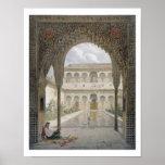 La corte de la Alberca en Alhambra, Granada, Poster