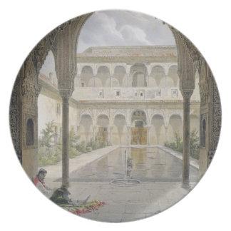La corte de la Alberca en Alhambra, Granada, Platos De Comidas