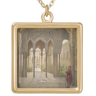 La corte de los leones, Alhambra, Granada, 185 Colgante Cuadrado
