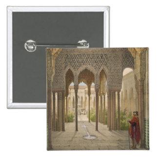 La corte de los leones, Alhambra, Granada, 185 Pin Cuadrado