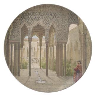La corte de los leones, Alhambra, Granada, 185 Plato De Cena