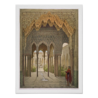 La corte de los leones Alhambra Granada 185 Poster