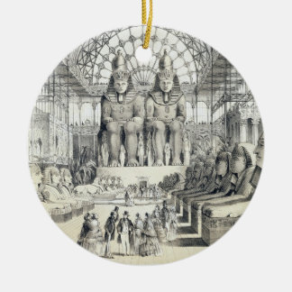 La corte de Nubian en el palacio cristalino en Syd Ornamentos De Navidad