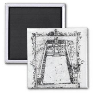 La corte del belvedere en el Vatican Roma, 1581 Imán