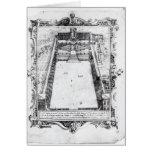 La corte del belvedere en el Vatican Roma, 1581 Tarjeta De Felicitación