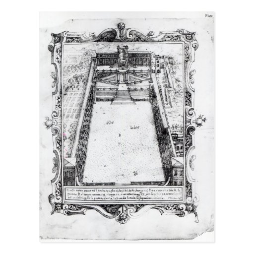 La corte del belvedere en el Vatican Roma, 1581 Tarjeta Postal