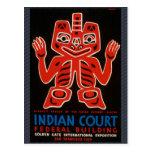 La corte india tarjetas postales