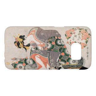 La cortesana con el geisha de Kitagawa Utamaro del Funda Samsung Galaxy S7