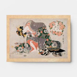 La cortesana con el geisha de Kitagawa Utamaro del