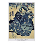 La cortesana Hanao de Ogiya por Utagawa, Kuniyoshi Posters