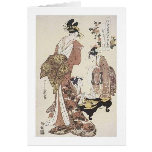 La cortesana Nakagawa, Eishi, 1795 Felicitacion