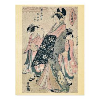 La cortesana Sayagata por Hosoda, Eishi Postal