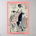 La cortesana Shinateru de Chokosai Eisho Poster