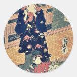 La cortesana Taisei por Utagawa, Sadahide Pegatina Redonda