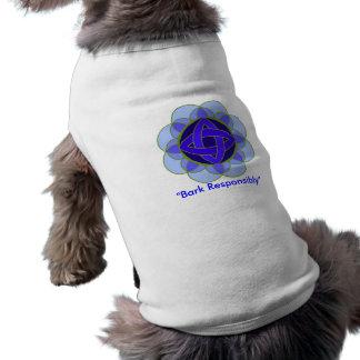 "La ""corteza"" acaricia responsable la camiseta playera sin mangas para perro"