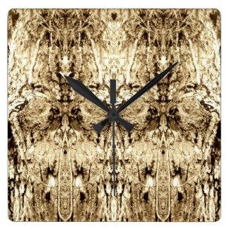 La corteza del chocolate hace frente al arte abstr reloj de pared