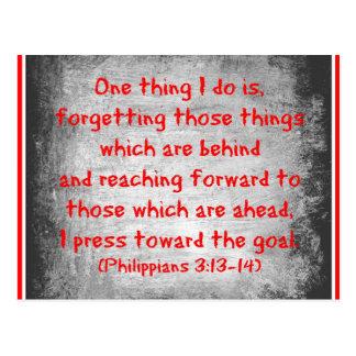 La cosa del verso uno de la biblia de los filipens postales