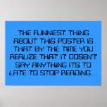 La cosa más divertida poster