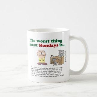 La cosa peor sobre lunes es… Taza