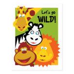 La cosa salvaje - tarjeta - cumpleaños invita postal