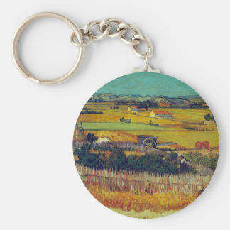 La cosecha, Arles de Vincent Willem Van Gogh Llavero Redondo Tipo Pin