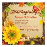 La cosecha de la acción de gracias invita invitación personalizada
