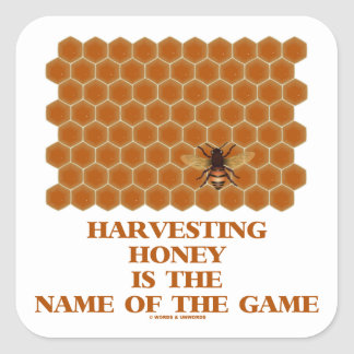 La cosecha de la miel es el nombre de The Game Calcomanías Cuadradass Personalizadas